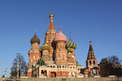 Russia, Moscow Kremlin.  Saint Basil's Cathedral Stock Photos