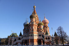 Russia, Moscow Kremlin.  Saint Basil's Cathedral Royalty Free Stock Images