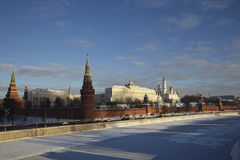 Russia, Moscow Kremlin in winter Royalty Free Stock Image