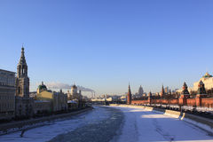 Russia, Moscow Kremlin in winter Royalty Free Stock Photography