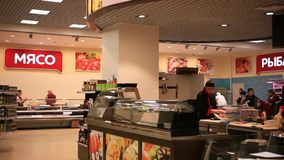 RUSSIA, MOSCOW, 7 MARCH 2015, grocery store with stock footage