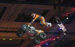 Hugo Ariazu doing tricks on his ATV Royalty Free Stock Images