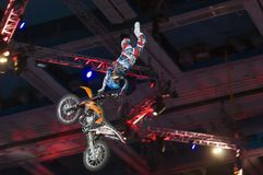 Moto trick Royalty Free Stock Photos