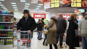 RUSSIA, MOSCOW, 7 MARCH 2015, People shopping at