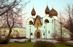 Russia. Moscow. The Martha and Mary abode. The main Pokrovsky Monastery. Founded by the Grand Duchess Elizaveta Feodorovna in 1909 Royalty Free Stock Photos