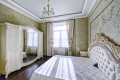 Interior design bedrooms. Royalty Free Stock Images