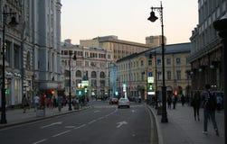Free Russia, Moscow: Myasnitskaya Street In The Evening Stock Photos - 99846033