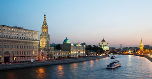 Russia, Moscow, night view Stock Image
