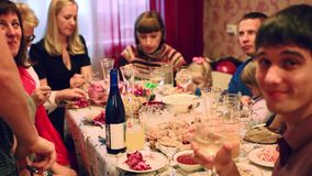 Russia, Moscow. 1 november 2014. People eating