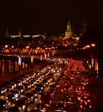 Russia, Moscow. Moscow one of the largest cities in the world in traffic jam Stock Images