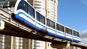 Russia, Moscow, Ostankino Moscow monorail. Russia Moscow Ostankino October  Moscow monorail stock video footage