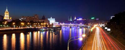 Russia-23.05.2014,  Moscow panorama view on the river from the b Royalty Free Stock Photos