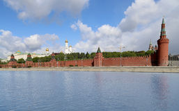 Russia, Moscow. Panoramic view of the Kremlin Stock Images