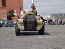 Russia. Moscow. Red square and Armoured personnel carrier APC BTR 80 Stock Image