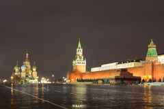 Russia. Moscow. Red square. Moscow's red square - the favorite place in the capital not only guests, but Muscovites. It is the symbol of her heart Stock Photography