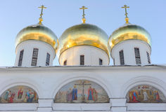 Russia. Moscow region. Dmitrov. Dmitrov Kremlin. Cathedral of the Assumption. Winter postcard stock photos