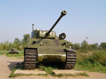Russia. Moscow region. Military Museum in Lenino-Snegiri. Tank Sherman Royalty Free Stock Photography