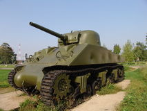Russia. Moscow region. Military Museum in Lenino-Snegiri. Tank Sherman Stock Photography