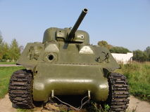 Russia. Moscow region. Military Museum in Lenino-Snegiri. Tank Sherman Royalty Free Stock Photo