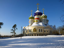 Russia. Moscow region. Peredelkino. Temple of the Holy Great Prince Igor of Chernigov Stock Photography