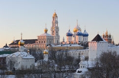 Russia. Moscow region. Sergiev Posad. Lavra. Russia. Moscow region. Sergiev Posad. Troitse-Sergieva Lavra. Winter postcard Stock Photo