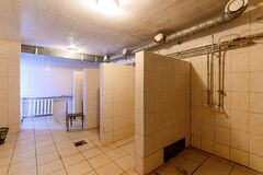 Russia, Moscow- September 10, 2019: interior room apartment public place bathroom, sink