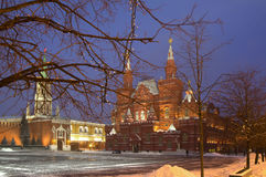 Russia. Moscow. The state Historical Museum. Morning not far from red square, the Kremlin Stock Images