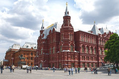 Russia, Moscow, 02.06.2016: The State Historical Museum in Moscow. Historical Museum of Russia is a museum of Russian history wedged between Red Square and stock images