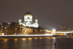 Russia. Moscow. The Temple Of Christ. Stock Photo