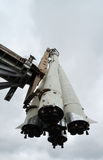 Russia. Moscow. VDNH. Space museum. Spaceship. Rocket Vostok at a launch pad royalty free stock photography