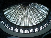 Russia Moscow VDNKH VVC The Space pavillion_Glass dome stock image