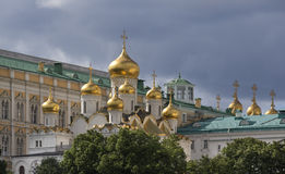 Russia, Moscow, view on Kremlin on against dramatic cloudy sky. Royalty Free Stock Photo