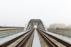 Russia, Moscow, view of Luzhnetsky railway Bridge Stock Image