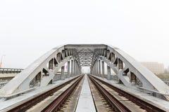 Russia, Moscow, view of Luzhnetsky railway Bridge Stock Photography