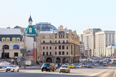 Russia, Moscow: View of the street Theatre way Royalty Free Stock Images
