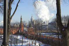 Russia. Moscow. Winter 2013-2014 in Moscow abnormally cold but relatively dry and Sunny Stock Photography