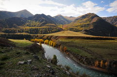 Russia. Mountain Altai. The Siberian rivers Royalty Free Stock Photo