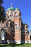 Russia. Mozhaisk. Spaso-Borodino monastery. Church in Borodino Savior Convent. Stock Photo