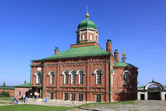 Russia. Mozhaisk. Spaso-Borodino monastery. Church in Borodino Savior Convent. Stock Photos