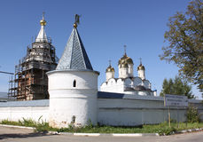 Russia. Mozhaisky Luzhetsky of the Nativity of the virgin Ferapontov monastery. Fortress tower Royalty Free Stock Photography