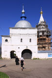 Russia. Mozhaisky Luzhetsky of the Nativity of the virgin Ferapontov monastery. Main gate Royalty Free Stock Images