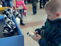 Russia, Murmansk - 07 April 2019: international interactive robot exhibition for children Robopolis stock photography