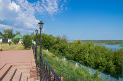 Russia. Murom Transfiguration Monastery. Observation deck Royalty Free Stock Images