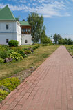 Russia. Murom Transfiguration Monastery. Walkway to the chapel Royalty Free Stock Photography