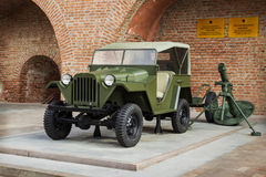 RUSSIA, N.NOVGOROD: Passenger road vehicle GAZ-67B Royalty Free Stock Photo