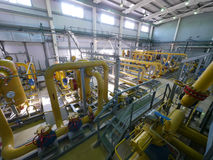 RUSSIA, NADYM - JUNE 8, 2011: Equipment of corporation GAZPROM i Royalty Free Stock Images