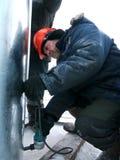 RUSSIA, NADYM - November 23, 2012: Ð¡orporation GAZPROM in Novy Stock Photography