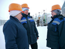 RUSSIA, NADYM - November 23, 2012: Ð¡orporation GAZPROM in Novy Royalty Free Stock Photography