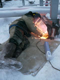 RUSSIA, NADYM - November 23, 2012: Сorporation GAZPROM in Novy Royalty Free Stock Photo