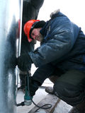 RUSSIA, NADYM - November 23, 2012: Сorporation GAZPROM in Novy Stock Photography